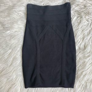 Bebe Lessie Textured High Waisted Bandage Skirt